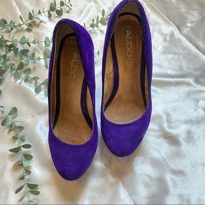 Aldo Shoes Bright Purple/Blue High Heel  7.5